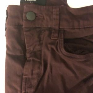 JBrand Maria wine colored jeans size 28